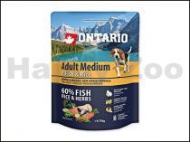 ONTARIO Adult Medium 7 Fish & Rice 0,75 kg