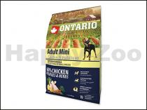 ONTARIO Adult Mini Chicken & Herbs 2,25kg