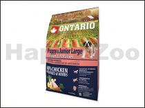 ONTARIO Puppy & Junior Large Chicken & Herbs 2,25kg