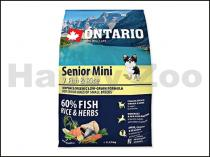 ONTARIO Senior Mini 7 Fish & Rice 2,25kg