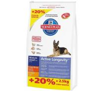 Hill's Canine Senior 5+ Large Breed 12 kg + 2,5 kg zdarma