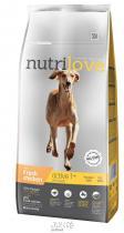 Nutrilove Dog dry Active fresh chicken 12kg + 2,4kg