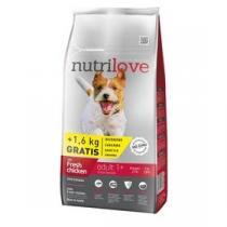 Nutrilove Dog dry Adult S fresh chicken 8kg + 1,6kg