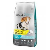 Nutrilove Dog dry Junior S-M fresh chicken 8kg + 1,6kg