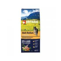 Ontario Adult Medium Lamb & Rice 12kg +