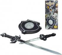 Sada Bojovník meč dýka štít na baterie Zvuk PLAST