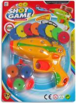Dětská pistole Shot Game sada s pěnovými kroužky na kartě plast