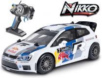 NIKKO RC Auto 1:16 Volkswagen Polo WRC Red Bull 27MHz na vysílačku na baterie