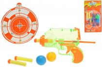 Pistole 15cm na balónky a šipky s terčem