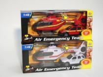 ALLTOYS 1:48 záchranáři auto a vrtulník