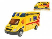 MIKRO TRADING Auto ambulance plast 18cm na setrvačník v krabičce