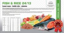 FISH & RICE - Lososí maso - hnědá rýže - zelenina 24/13 12+2kg