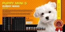 Puppy Mini S - Kuřecí maso 31/21 4,5 Kg
