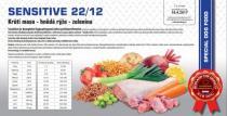 SENSITIVE - Krůtí maso, hnědá rýže, zelenina 22/12 12 Kg