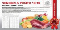 VENISON & POTATO - Srnčí maso -brambor - zelenina 19/10 Váha: 12 Kg