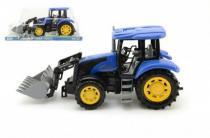 TEDDIES traktor s radlicí plast 42cm na setrvačník v krabičce