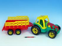 TEDDIES Teddies Traktor s vlekem plast 75cm