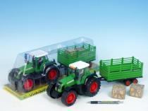 MIKRO TRADING Traktor s vlečkou plast 43cm