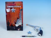 TEDDIES Pistole Kolt plast kovbojský + šerifská hvězda