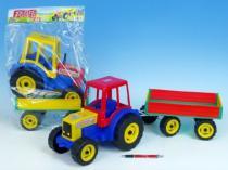 TEDDIES Teddies Traktor Farmer XXL s vlekem plast 69cm