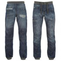 Airwalk Cuffed Jogger Jeans Mid Wash
