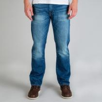 Levis Mens 504 Regular Straight Fit Fairfax Jeans Denim
