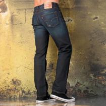 Levis Mens 504 Regular Straight Fit Olmstead Jeans Denim
