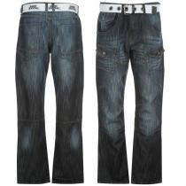 No Fear Belted Cargo Jeans Dark Wash
