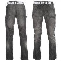 No Fear Belted Cargo Jeans Black