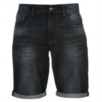 Lee Cooper Regular Denim Shorts Dark Wash