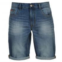 Lee Cooper Regular Denim Shorts Light Wash
