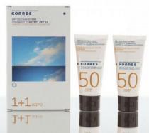 Korres Sun Care Sunscreen Face Cream Yoghurt SPF50 2x50ml
