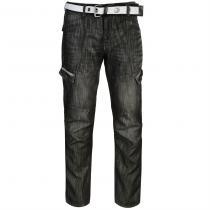 Airwalk Belted Cargo Jeans Black II