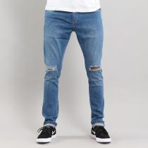 Urban Classics Slim Fit Knee Cut Pant blue washed