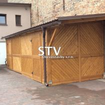 STV Dřevostavby s.r.o. Dřevěná kůlna u zdi
