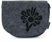 Art of Polo filcová crossbody kabelka Flower Black šedá