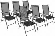 OEM Zahradní sada 6 skládací židle GARTHEN