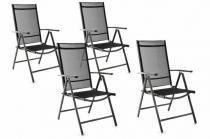 OEM Zahradní sada 4 skládacích židlí