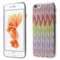 AppleKing ochranný kryt s motivem drahokamů pro Apple iPhone 6/6S stříbrný