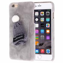 AppleKing plyšový ochranný kryt/obal s čepicí pro Apple iPhone 6S/6 šedý