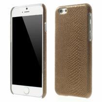 AppleKing kryt s designem ještěří kůže na Apple iPhone 6/6S hnědý
