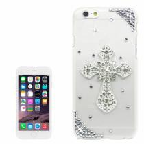AppleKing luxusní kryt/obal s kamínky ve stylu diamantu pro Apple iPhone 6S/6 kříž