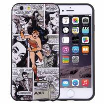 AppleKing plastový ochranný kryt/obal pro Apple iPhone 6S/6 dívka z komiksu