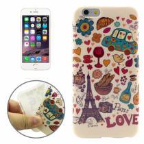 AppleKing gumový kryt s průhledným rámečkem pro Apple iPhone 6/6S paříž