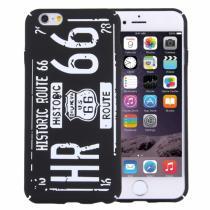 AppleKing stylový ochranný kryt/obal pro Apple iPhone 6S/6 Route 66 černý