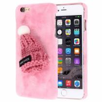 AppleKing plyšový ochranný kryt/obal s čepicí pro Apple iPhone 6S/6 růžový