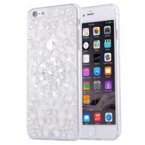 AppleKing ochranný zadní kryt s kamínky ve stylu diamantu pro iPhone 6/6S stříbrný