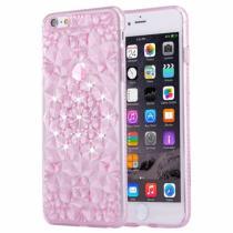 AppleKing ochranný zadní kryt s kamínky ve stylu diamantu pro iPhone 6/6S růžový