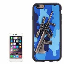 AppleKing plastový kryt s 3D motivem pušky Steyr AUG A1 pro Apple iPhone 6S/6 modrý