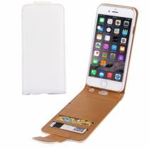 AppleKing otevírací elegantní flipové pouzdro pro Apple iPhone 6S Plus/6 Plus – bílo hnědé